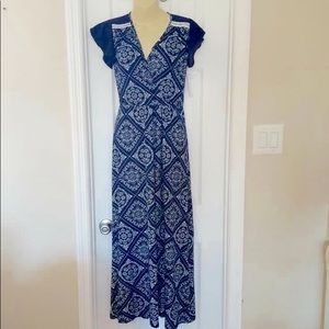 Loveappella Maxi Dress With Flutter Sleeves